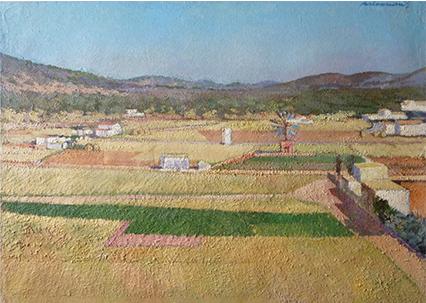Carloandrés. Oili sobre llenç. Eivissa. 1961