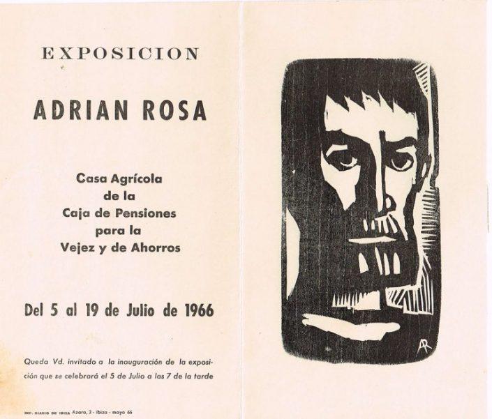 Exposició Adrián Rosa 1966.