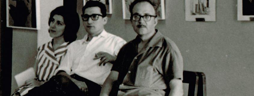 Arseni, amb Carloandrés i la seva dona (Eivissa,1959)