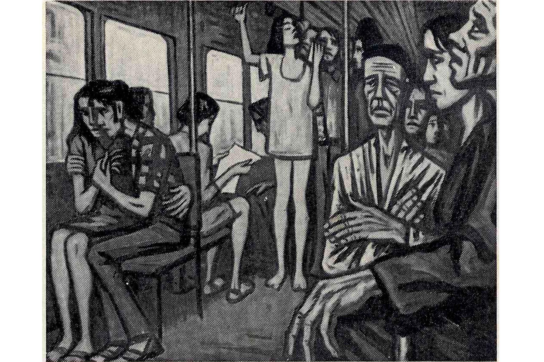 "Bus de la mañana. Francisco Carreño Prieto. Catàleg ""Salón de Otoño, 1970"" Palma"