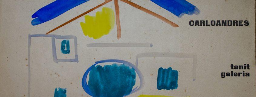Cartell fet a mà de l'exposició de Carloandrés a la galeria Tanit