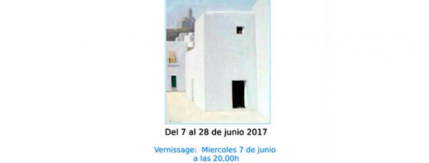 Cartell anunciador de la Galeria Marta Torres