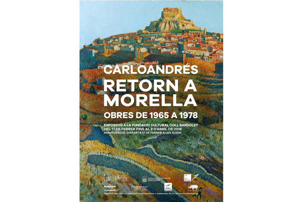 Cartell de l'exposició de Carloandrés sobre Morella a la Fundació Coll Bardolet de Valldemossa