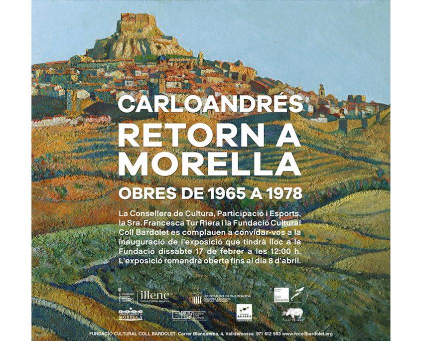 Invitació exposició Carloandrés sobre Morella a la Fundació Coll Bardolet de Valldemossa