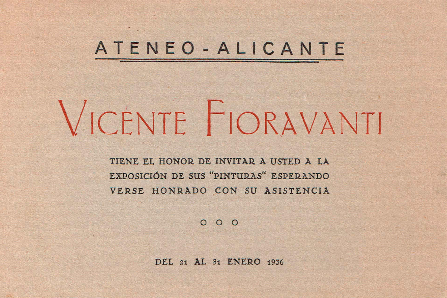 Catàleg exposició Ateneu d'Alacant. 1936: Portada