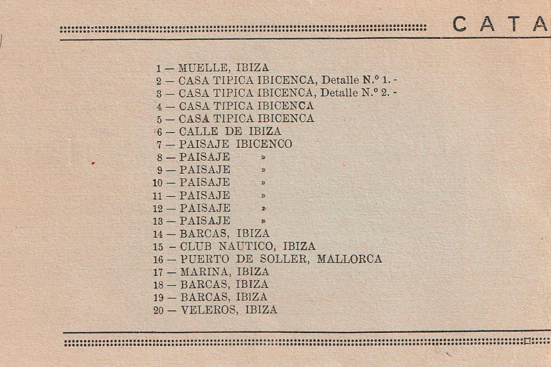 Catàleg exposició Ateneu d'Alacant. 1936: Pàg. 1